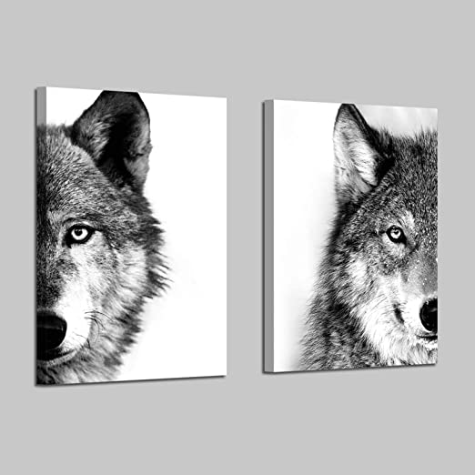 Wolf animal photography canvas art picture