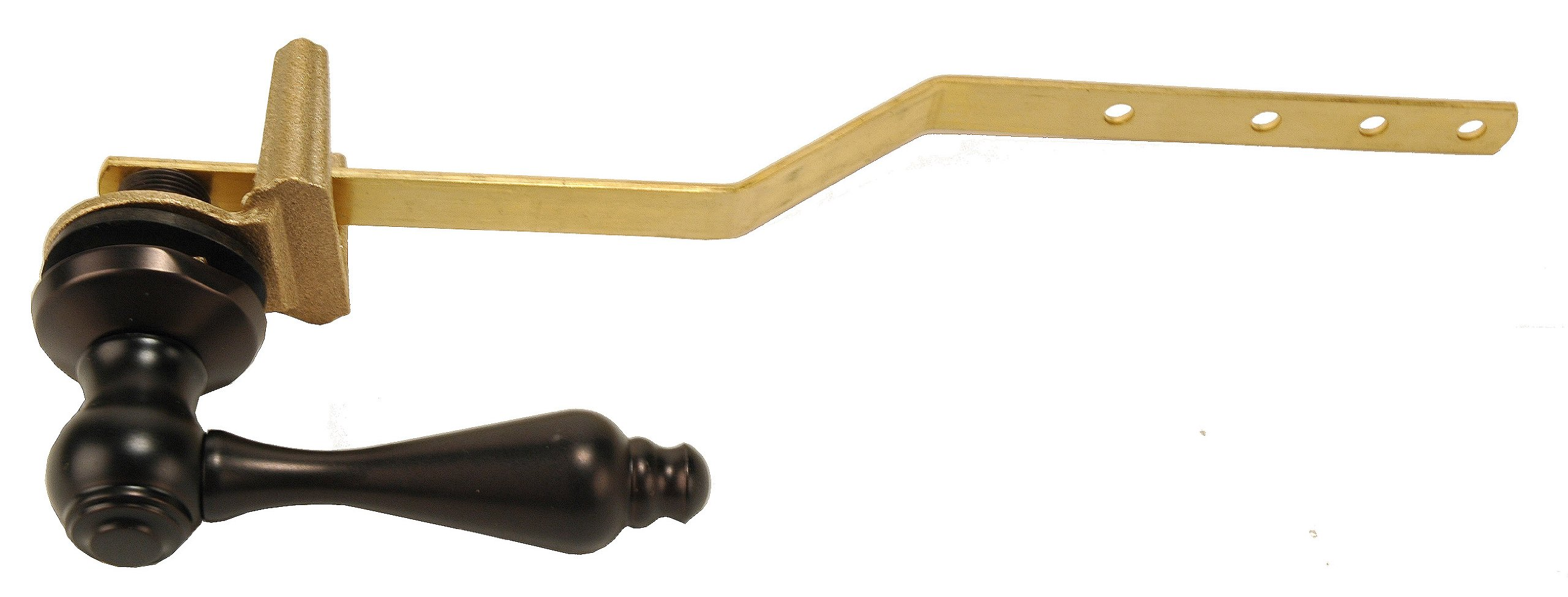 Toilet Tank Lever, Oil Rubbed Bronze Finish, Frontal Mount - By Plumb USA