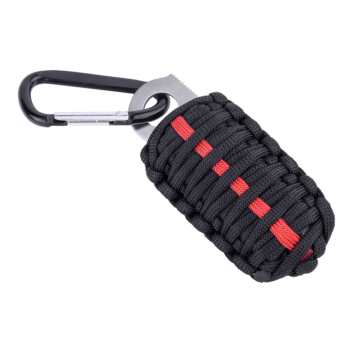 LiangGui 12 Pcs Paracord Survival Grenade Emergency Keychain Survival Kit for EDC Every Day Carry Key Chain Survival Gear Black