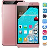 HyRich® Unlocked 6 inch Android 5.1 3G Smartphone GSM Cell Phone Dual Sim 1G RAM Fast 8GB ROM (Rose Gold)