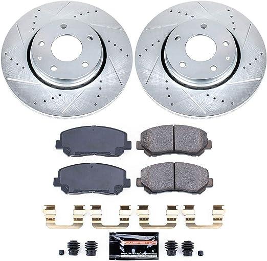 Front /& Rear Brake Disc Rotors /& Ceramic Brake Pads for Mazda 6 2.5L 2016-2018