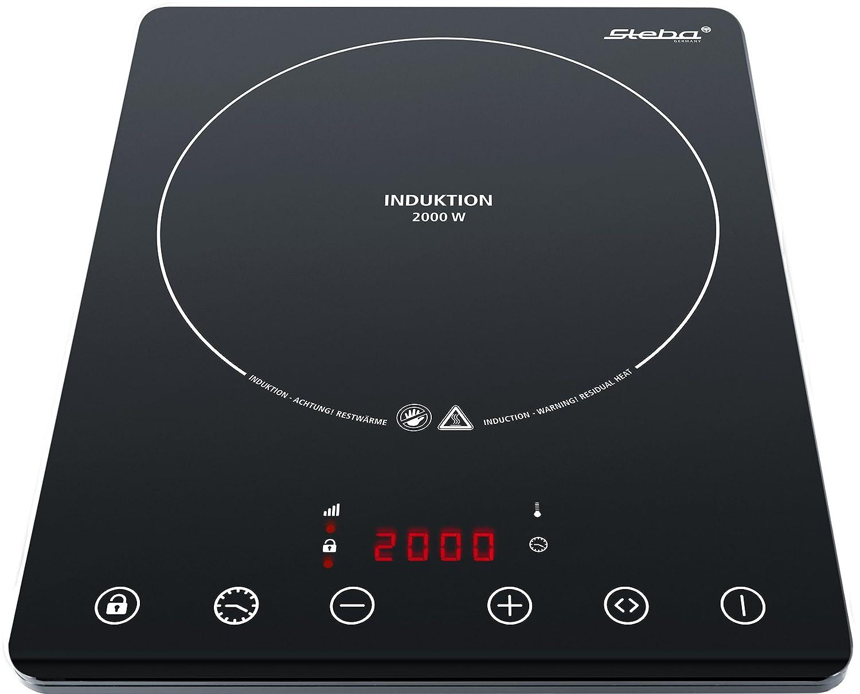 Steba IK 65 Slim Ultra-flaches Induktionskochfeld Elektro / 2000 W / Mobil einsetzbar / schwarz