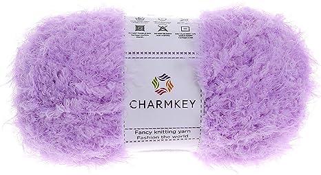 Eacute cheveau de fil nylon et polyester Charmkey - Effet fourrure  volumineuse super douce - 70f9b3506f0