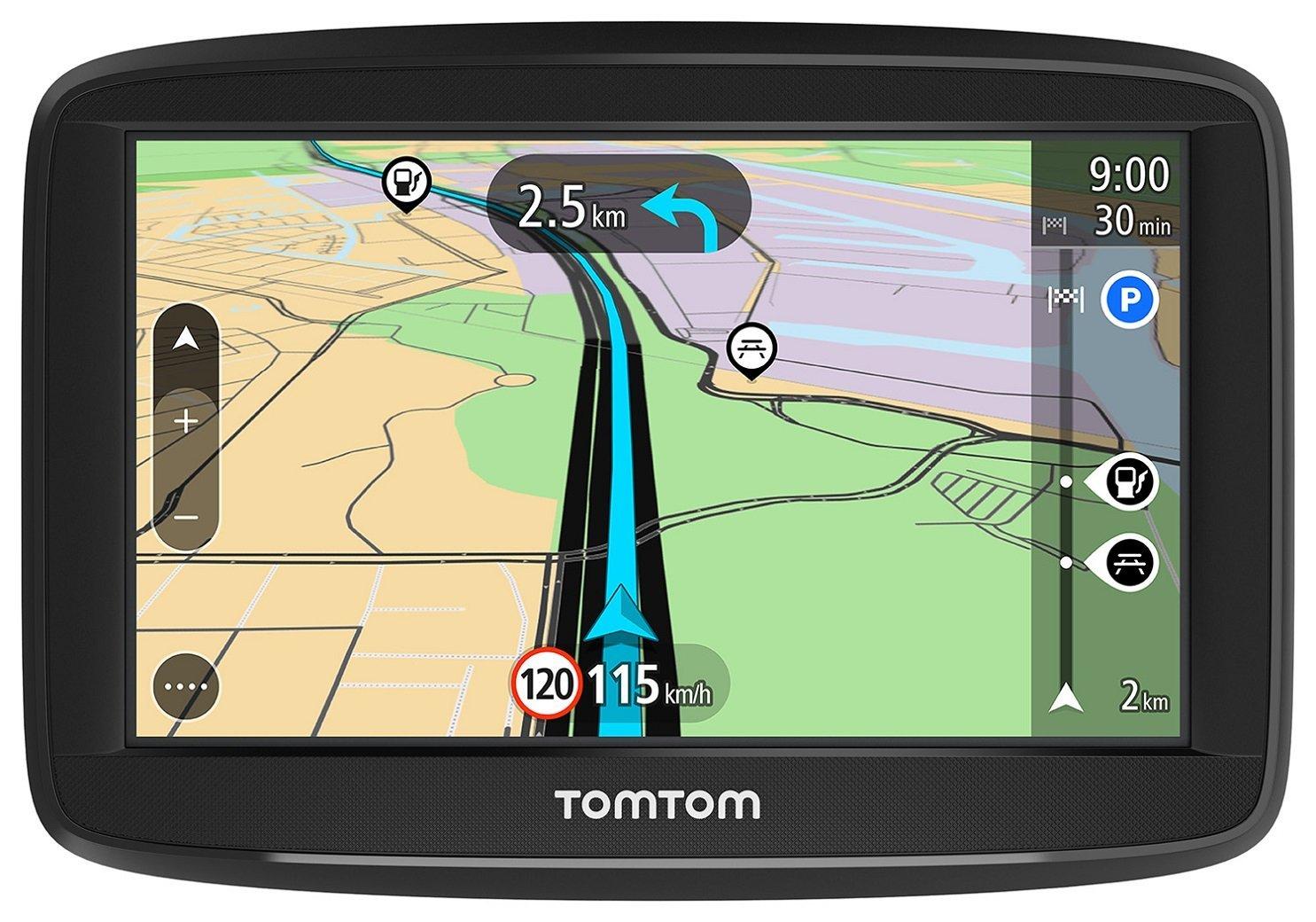 """TomTom Start 42 Europa 45 GPS per Auto, Display da 4.32"""", Mappe a Vita, Indicatore di Corsia Avanzato, 3 Mesi Tutor&Autovelox, Aggiornamenti Software Gratuiti,Nero/Antracite Display da 4.32"""" 1AA4.002.00 autostrada fila"""