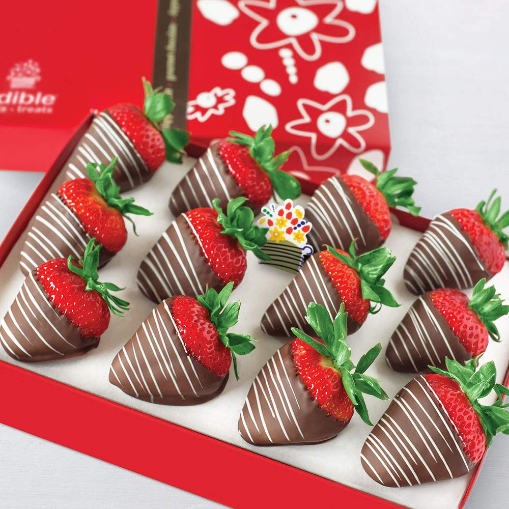 Edible Arrangements 12 Fresh Chocolate Covered Swizzle Berries