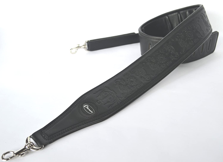 Banjogurt Tenor Fü nf oder sechs String schwarz geprä gt Leder von Clearwater GS21BK