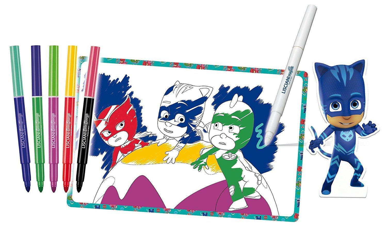 Lisciani Giochi 62942, PJ Masks, Escuela de dibujo con rotuladores mágicos: Amazon.es: Juguetes y juegos