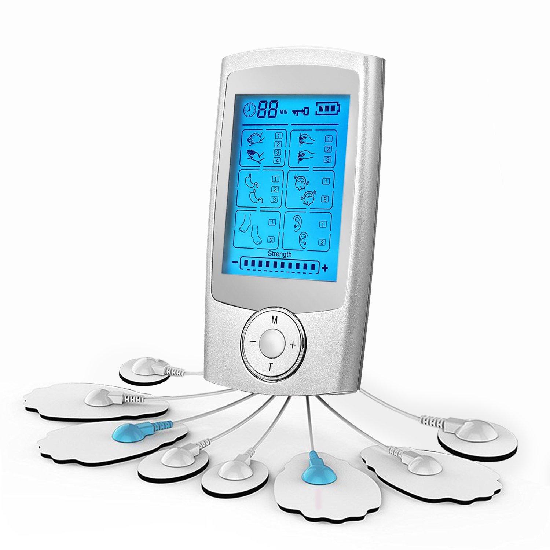 Electroestimulador Digital Muscular Fochea TENS EMS Mini Masajeador y Estimulador con Canales