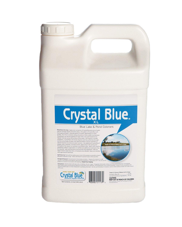 Sanco Industries Crystal Blue XL Commercial Lake & Pond Dye - Royal Blue Color - 2.5 Gallon