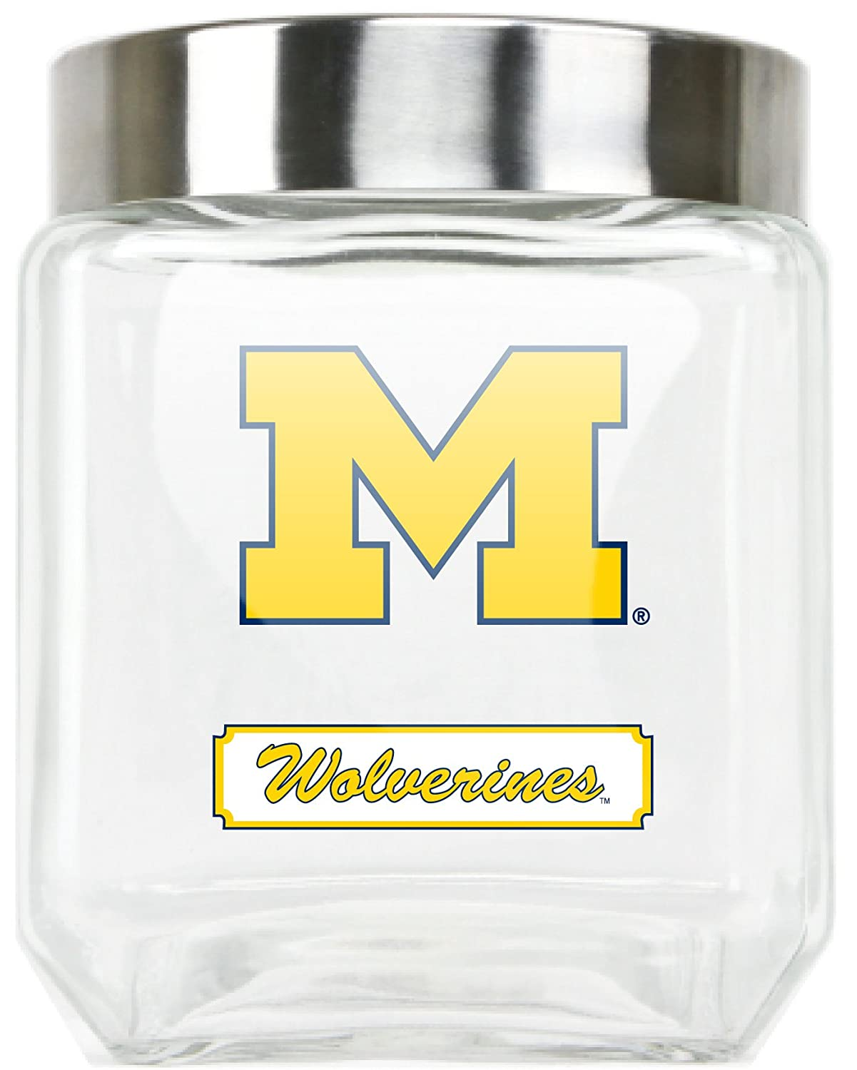 NCAA Michigan Wolverines Glass Canister Large