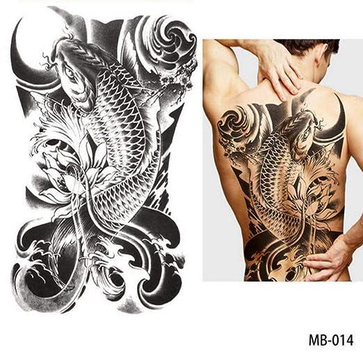 adgkitb 2 Piezas Pegatinas de Tatuaje de Tatuaje de Pecho de ...