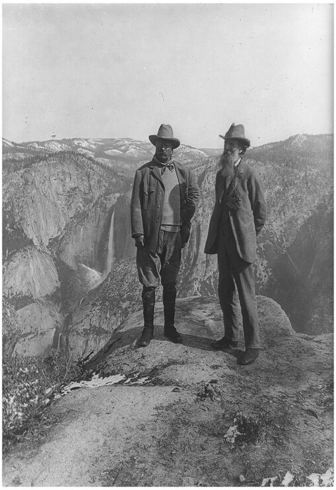 Theodore Roosevelt with John Muir Archival Photo Poster Print 13 x 19in