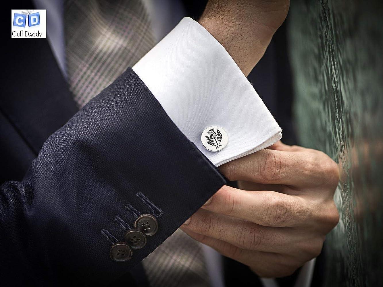 Chef Baker Hat Spoon CookPair Cufflinks Wedding Dad Gift Box /& Polishing Cloth
