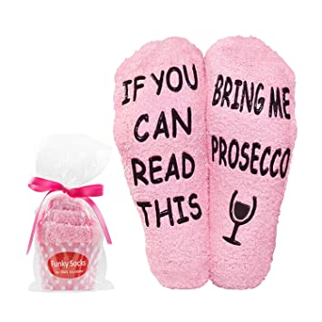 DN Creations Funny Unusual Gifts For Women If You Can Read This Bring Me Prosecco