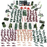 146 PCS Army Soldiers Battle Group Army Man Toy Soldiers Playset Action Figures