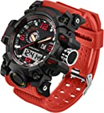 Men's Watches Military Sports Electronic LED Stopwatch Digital Analog Dual Time Outdoor Army Wristwatch Tactical