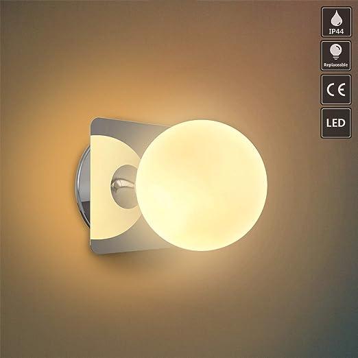 OOWOLF G9 LED wandleuchte badezimmer IP44 spritzwassergeschützt innen  wandleuchte bad badezimmer wandlampe lampe bad schlafzimmer Küchenleuchte  ...