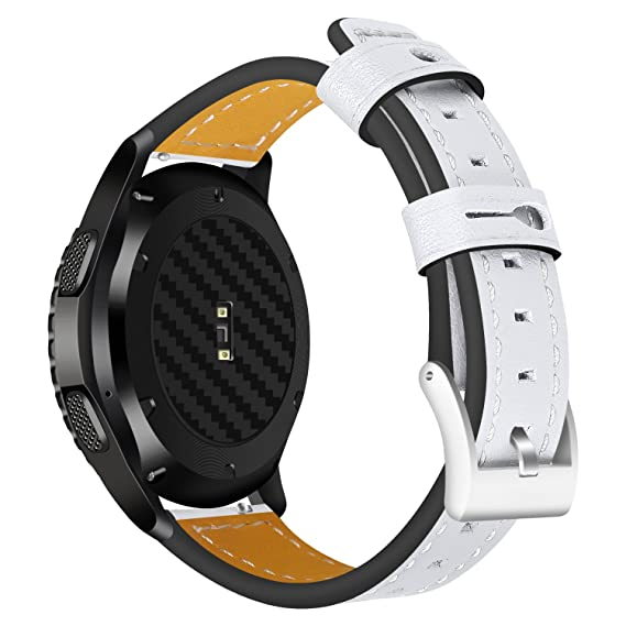 Jewh Universal Genuine Leather Strap for Samsung Gear S3 - Classic/S3 Frontier/Moto