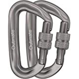 Outmate Carabiner Clip,12kN Aluminium Alloy Carabiners,Heavy Duty Clips 2645lbs/1200kg,Perfect Gear for Hammocks Camping Hiki