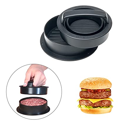 Prensa Hamburguesas, EarthSave 3 in 1 Molde rellenar hamburguesas y mini hamburguesas para hamburguesas caseras