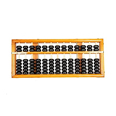 "Asian Home Vintage-Style 13 Column Rods Wooden Abacus Professional Soroban Chinese Japanese Calculator Counting Tool (Medium) - 11.25"" x 4.75"": Toys & Games"