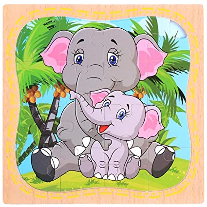 Houeglass Worthwhile Animal Intelligence Puzzle Smart(None Elephant)