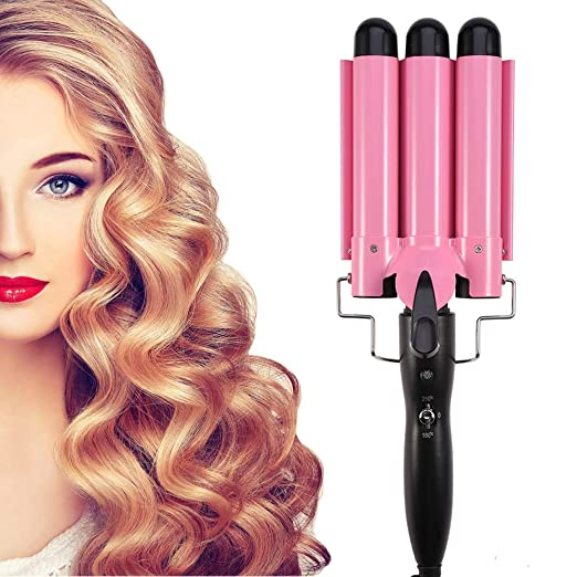 Amazon.com: Hair Curling Iron, Fashionable Triple Pipe Hair Curler Egg Roll Head Hair Styling Tools Curling Iron DIY Curly Hair Styling Tools(28mm): Beauty