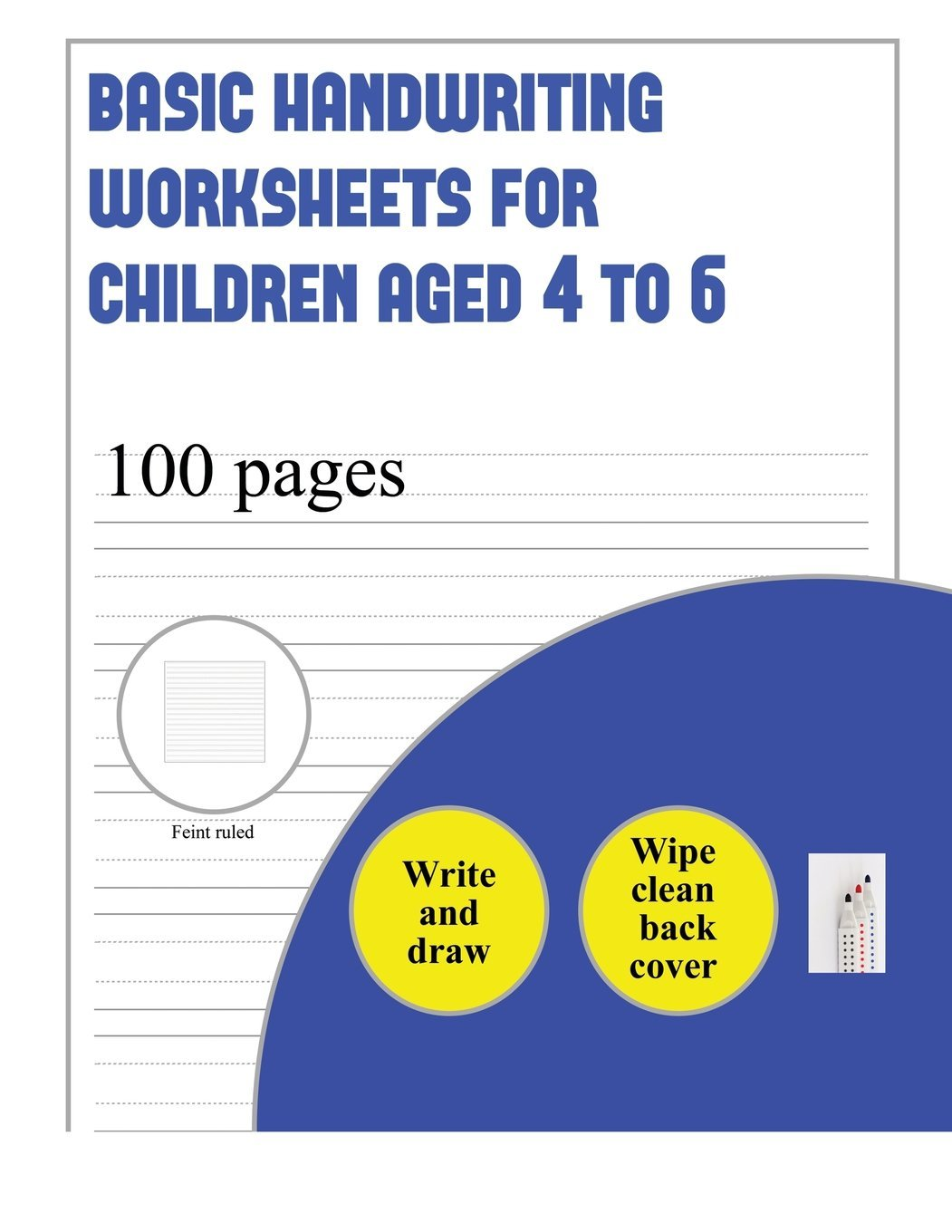Basic Handwriting Worksheets For Children Aged 4 To 6 Write And
