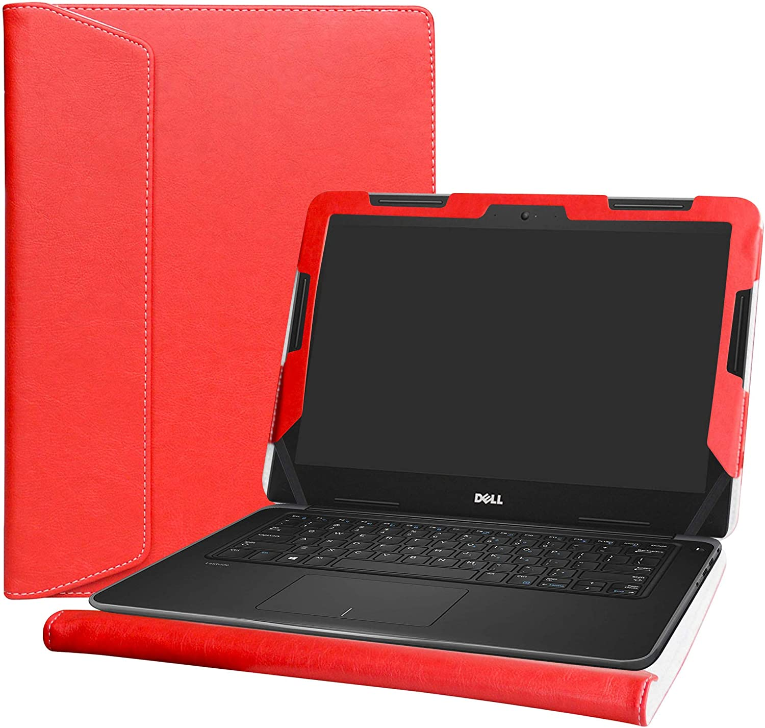 "Alapmk Protective Case Cover for 13.3"" Dell Latitude 13 3380 Education & Dell Chromebook 13 3380 Series Laptop(Warning:Not fit Latitude 13 3350 3340 3330/Latitude 13 2-in-1 3390 3379),Red"