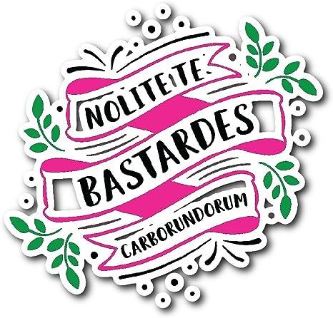 Literatura feminista Quote nolite te Bastardes carborundorum adhesivo: Amazon.es: Juguetes y juegos