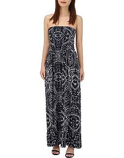 02b6e9dfb3c72 HDE Women's Strapless Maxi Dress Plus Size Tube Top Long Skirt Sundress  Cover Up