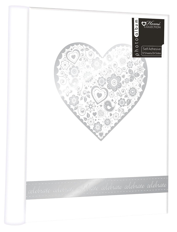 Wedding Photo Album Floral Heart Design 12 Self Adhesive Pages Journal SLKD3 anker