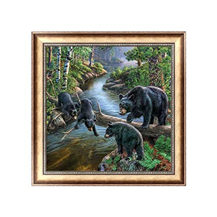 DIY 5D Bear Series Diamond Painting Embroidery Cross Stitch Kit Home Decor Craft