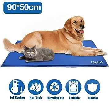 GoStock Pet Cool Mat Estera de Enfriamiento para Mascotas Estera de Enfriamiento para Perros y Gatos Alfombra de Hielo para Mascotas Estera para ...