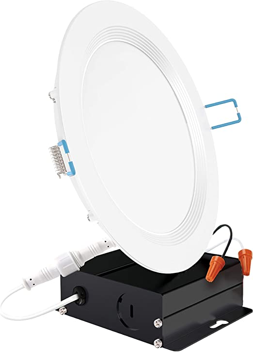 Sunco Lighting 6 Inch Slim Led Downlight Baffle Trim Junction Box 14w 100w 850 Lm Dimmable 6000k Daylight Deluxe Recessed Jbox Fixture Ic Rated Retrofit Installation Etl