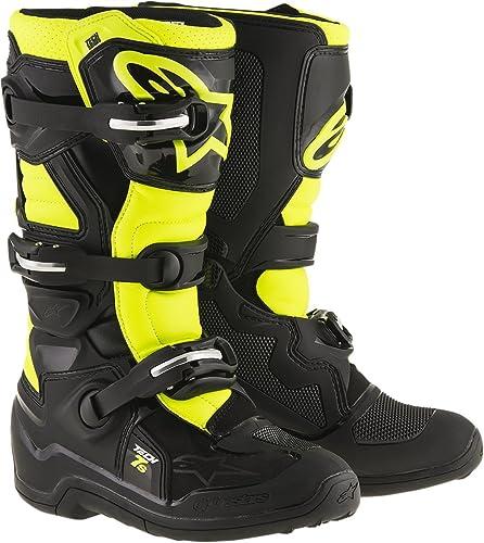 ALPINESTARS KIDS Motocross Stivali TECH 7s Nero//Grigio//Bianco//Arancione Fluo
