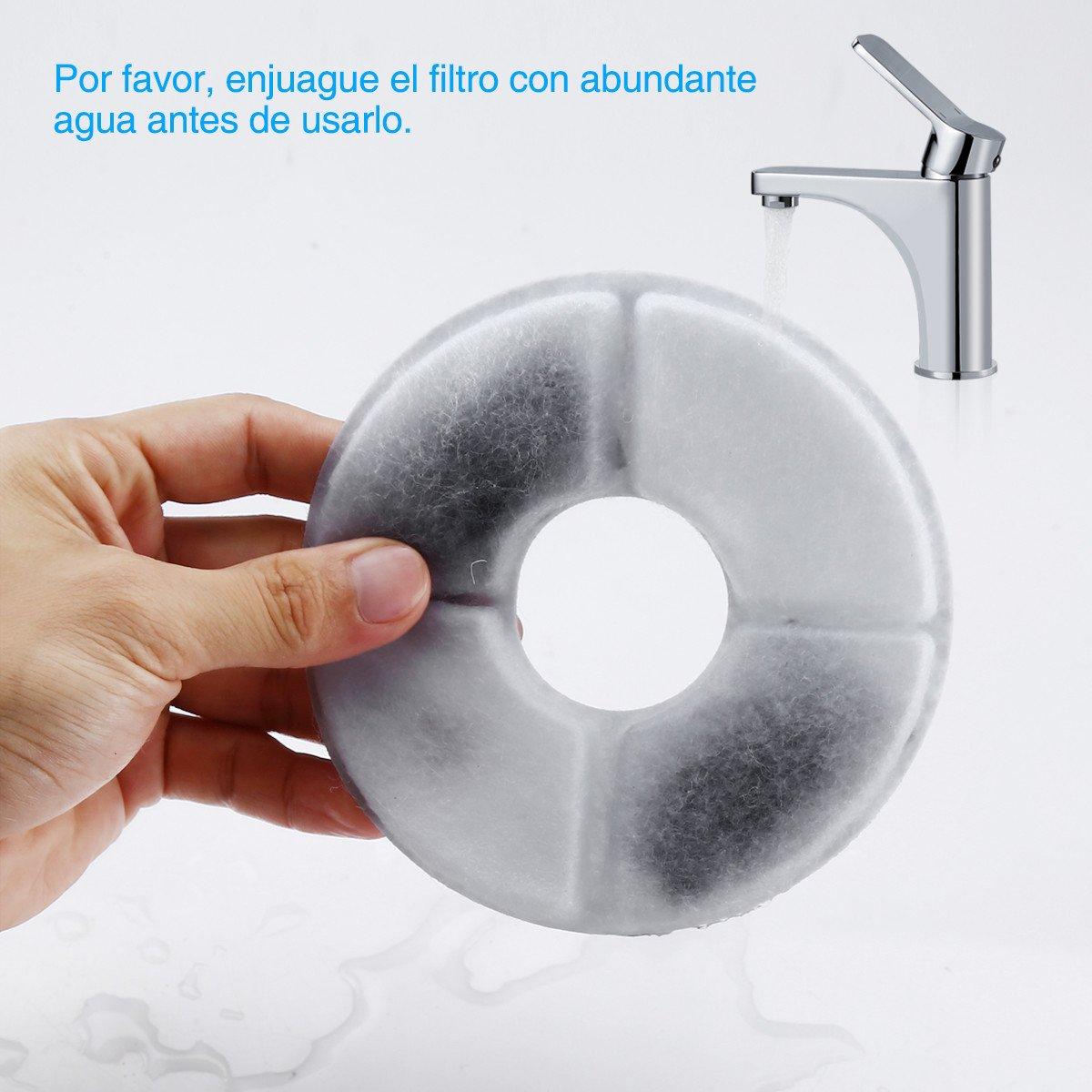 isYoung Fuente de Mascota Dispensador de Agua Automático Filtros de Carbón Activado Premium Paquete de 4, Filtros de Fuente para Mascotas