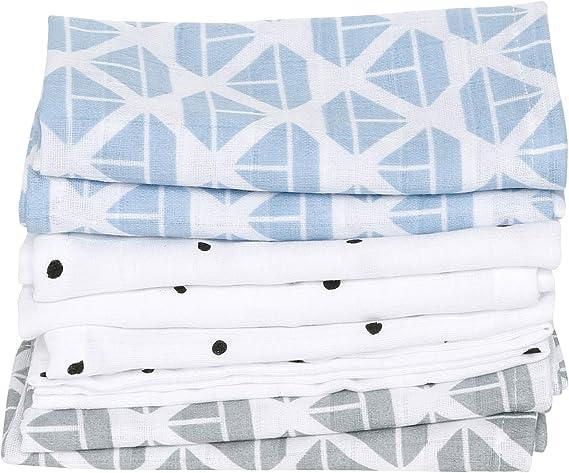 Toallas para bebé de muselina de algodón, manopla para bebé (7 ...