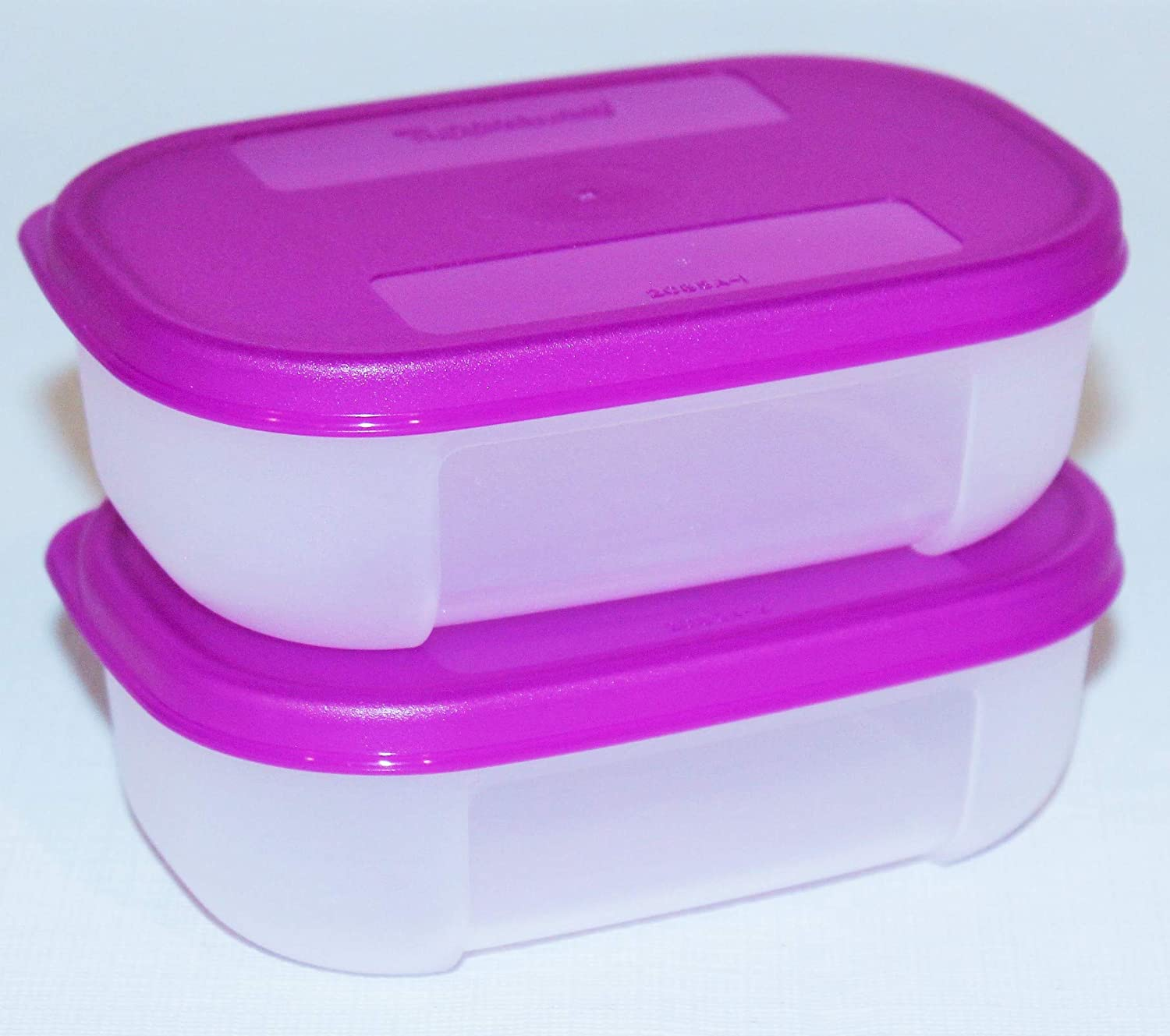 Tupperware Set of 2 Freezer Mates Mini Containers 4 Ounces Purple