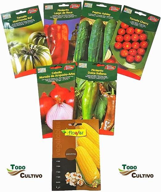 Semilla hortaliza de huerto lote 6 sobres + 1 de regalo. Lote ...