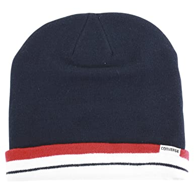 8fdc5daef88 Converse Men s All Star Navy Beanie Cap Winter Hat (One Size Fits Most)