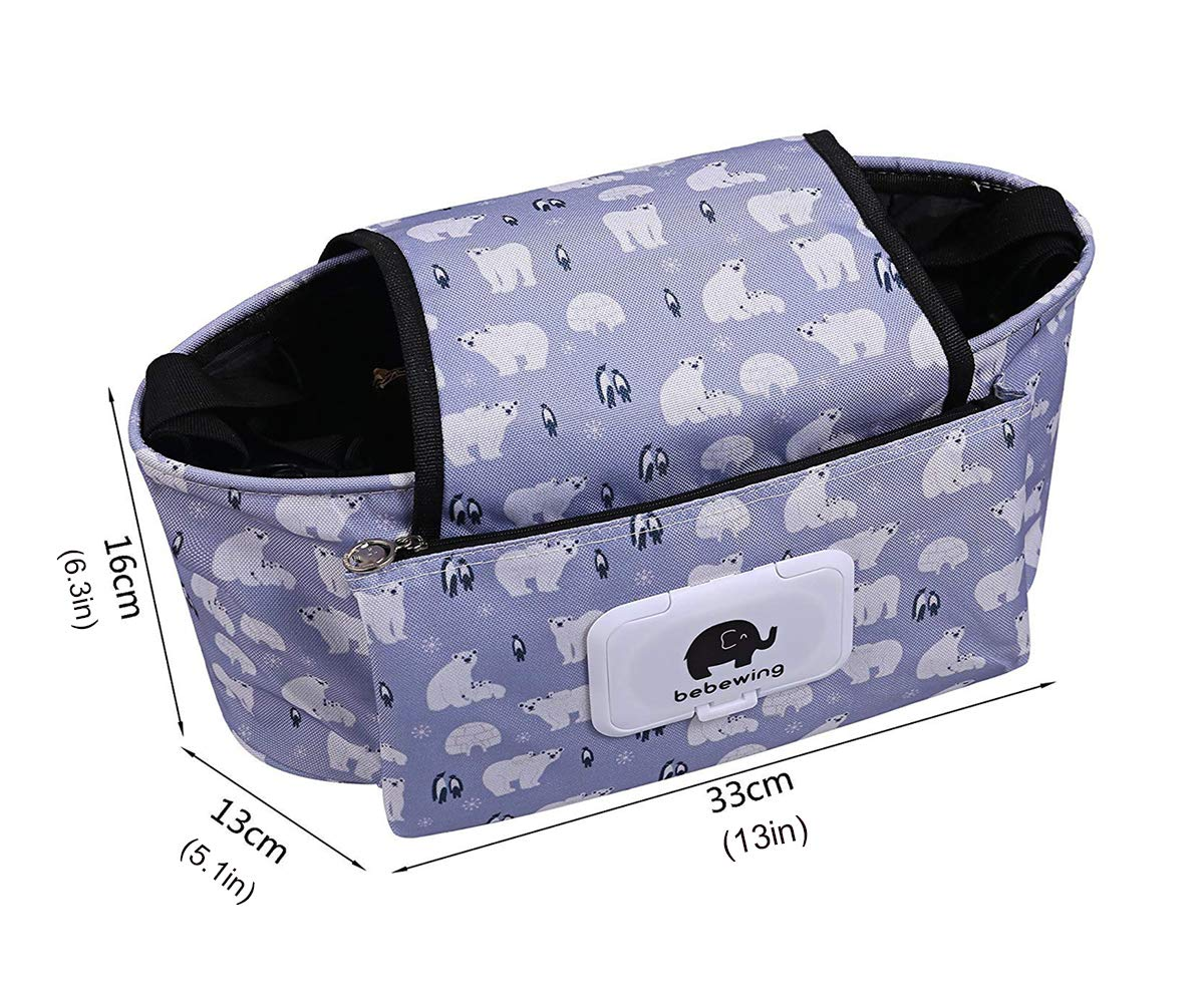Navy Blue Z-Chen Buggy Pram Organiser Bag