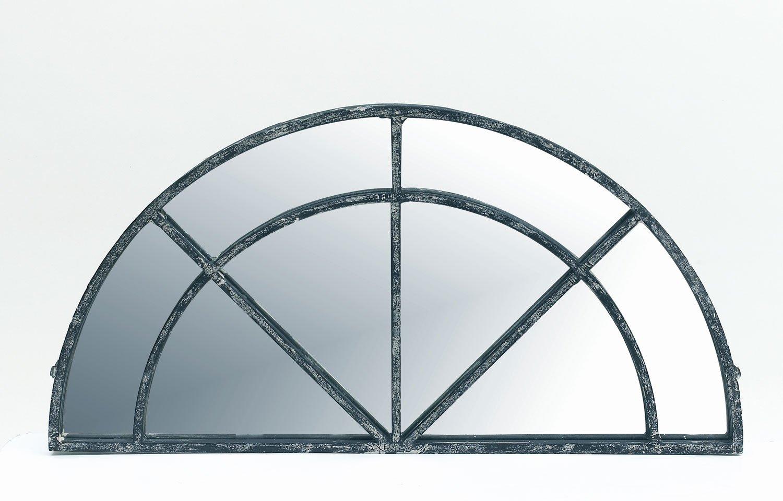 Pomax Half Moon Mirror Made With Chrome Metal Frame