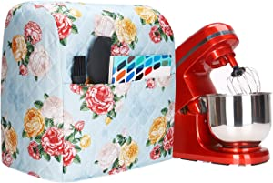 Stand Mixer Cover with Pocket,Kitchenaid Mixer Covers with a Beautiful Flowers Compatible with 6-8 Quarts Kitchenaid/Hamilton Stand Mixer/Tilt Head & Bowl Lift Models,Pioneer Woman Kitchen Accessories