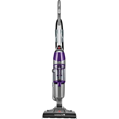 Bissell Symphony Pet Steam Mop and Steam Vacuum Cleaner for Hardwood and Tile Floors, with Microfiber Mop Pads, 1543A,Purple