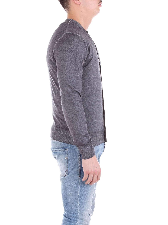Cruciani Mens Cu205538270br1 Grey Wool Cardigan