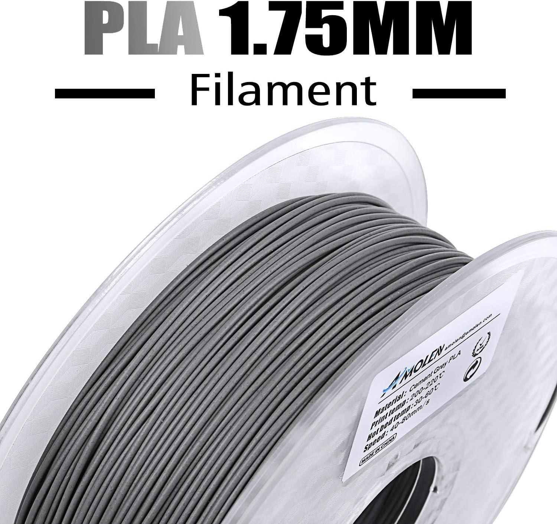 AMOLEN Imprimante 3D Filament PLA 1.75mm comprend Glow in the Dark Vert Filament /échantillons. 0.03 mm Mat/ériaux dimpression 3D en filament Bois 1KG,+//