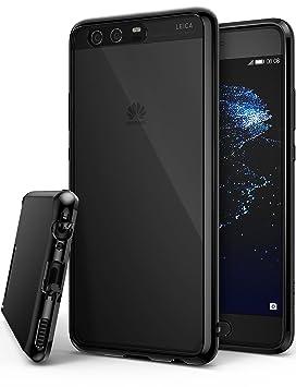 Ringke Funda para Huawei P10, [Fusion] Protector de TPU con Parte Posterior Transparente de PC Caso Protectora biselada para Huawei P10 2017 - Negro ...