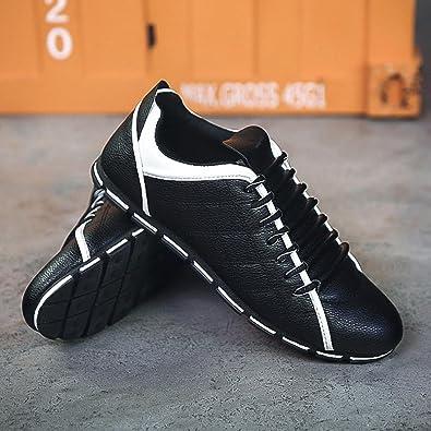 BYSTE Scarpe da Uomo Nuovo Stile Moda Casuale Scarpe di Pelle Confortevole Traspirante  Ballerine Scarpe Stile Britannico Sneakers (EU 41 f63c44bfe43