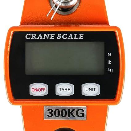 b/áscula de pesaje azul con sensores precisos b/áscula de gancho para colgar con sensor preciso YUJIAN Mini escala digital de gr/úa 300 kg//600 libras LCD carcasa de aluminio fundido